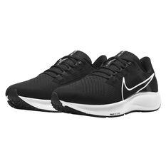Nike Air Zoom Pegasus 38 Mens Running Shoes, Black/White, rebel_hi-res