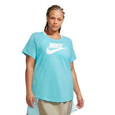 Nike Womens Sportswear Essential Tee Plus Blue 1X, Blue, rebel_hi-res