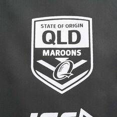QLD Maroons State of Origin 2020 Mens Training Shorts, Grey, rebel_hi-res