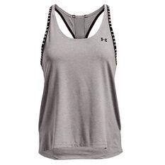 Under Armour Womens Knockout Mesh Back Tank Grey XS, Grey, rebel_hi-res