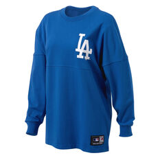 Majestic Womens Rando LS Dodgers Tee Blue XS, Blue, rebel_hi-res