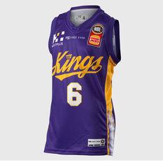 Sydney Kings Andrew Bogut 2018 / 19 Kids Home Jersey Purple 8, Purple, rebel_hi-res