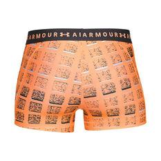 Under Armour Womens HeatGear Armour Printed Shorty Shorts Black XL, Black, rebel_hi-res