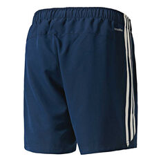 adidas Mens 3-Stripe Chelsea Shorts Navy / White S, Navy / White, rebel_hi-res