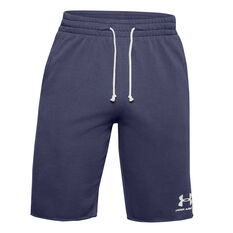 Under Armour Mens Woven Sportstyle Terry Shorts Blue XS, Blue, rebel_hi-res