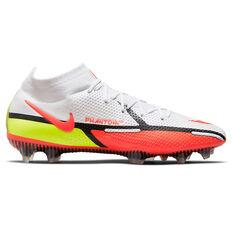 Nike Phantom GT2 Elite Dynamic Fit Football Boots White/Red US Mens 4 / Womens 5.5, White/Red, rebel_hi-res