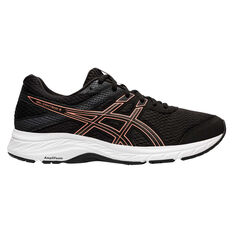 Asics GEL Contend 6 Womens Running Shoes Black/Rose Gold US 6, Black/Rose Gold, rebel_hi-res