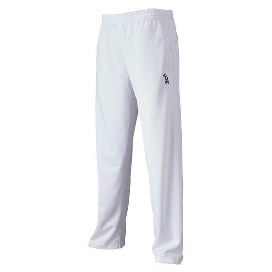 Kookaburra Junior Pro Active Cricket Pants, White, rebel_hi-res