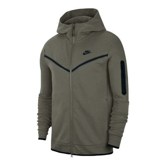 Nike Mens Tech Fleece Full Zip Hoodie, Khaki, rebel_hi-res