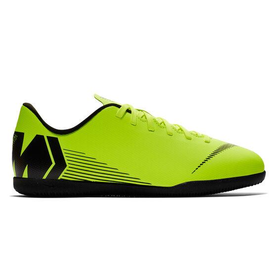 Nike Mercurial Vaporx XII Club Junior Indoor Soccer Shoes Volt / Black US 6, Volt / Black, rebel_hi-res