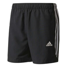 adidas Mens Essentials 3-Stripe Chelsea 5in Shorts Black / White S, Black / White, rebel_hi-res