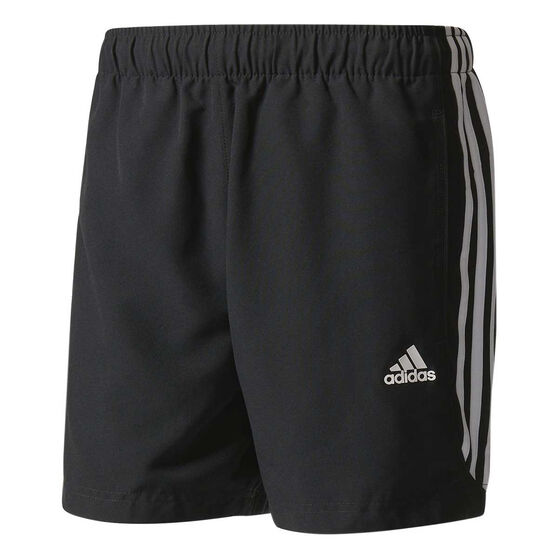 adidas Mens Essentials 3-Stripe Chelsea 5in Shorts, Black / White, rebel_hi-res