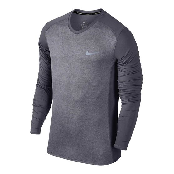 0d69a7c66d45 Nike Mens Dri-Fit Miler Long Sleeve Tee