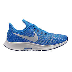 Nike Air Zoom Pegasus Kids Running Shoes Blue / Grey US 1, Blue / Grey, rebel_hi-res