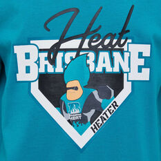 Brisbane Heat 2019/20 Kids Mascot Tee Teal 8, Teal, rebel_hi-res