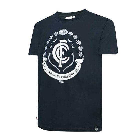 Carlton Blues Mens Supporter Logo Tee, , rebel_hi-res