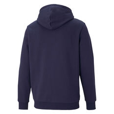 Puma Mens Essential Two Toned Big Logo Hoodie Navy XS, Navy, rebel_hi-res