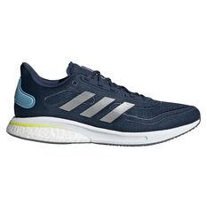 adidas Supernova Mens Running Shoes Blue/Silver US 7, Blue/Silver, rebel_hi-res