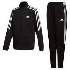 adidas Boys Tiro Tracksuit Black / White 8, Black / White, rebel_hi-res