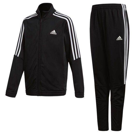 3a45946f adidas Boys Tiro Tracksuit, Black / White, rebel_hi-res