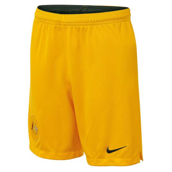 Socceroos 2018 Kids Home Football Shorts XL, , rebel_hi-res