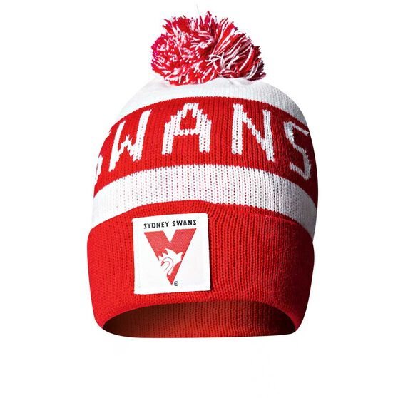 Sydney Swans Bar Beanie OSFA, , rebel_hi-res