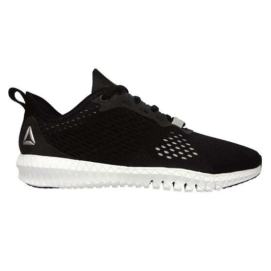 Reebok Flexagon Womens Training Shoes, Black / White, rebel_hi-res