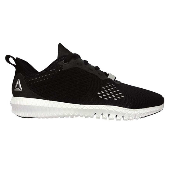 Reebok Flexagon Womens Training Shoes Black / White US 6.5, Black / White, rebel_hi-res