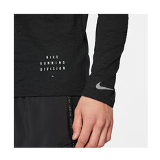 Nike Mens Dri-FIT Elements Run Division Top, Black, rebel_hi-res
