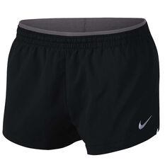 Nike Womens Elevate 3in Running Shorts Black / Grey XS Adult, Black / Grey, rebel_hi-res