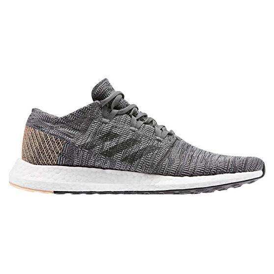 adidas Pureboost GO Mens Running Shoes, Grey / Black, rebel_hi-res