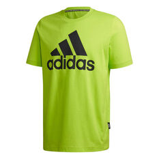 adidas Mens Must Haves Badge of Sport Tee Green S, Green, rebel_hi-res