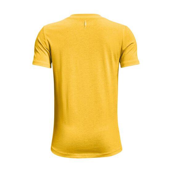 Under Armour Boys Curry Logo Tee, Yellow/Black, rebel_hi-res