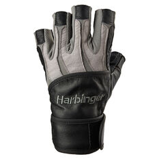 Harbinger BioForm Wrist Wrap Glove Grey S, Grey, rebel_hi-res