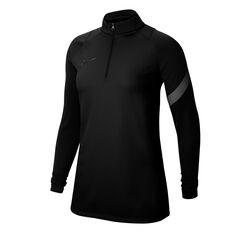 Nike Womens Dri FIT Academy Pro Long Sleeve Top Black XS, Black, rebel_hi-res