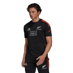 All Blacks 2021 Mens Performance Tee Black S, Black, rebel_hi-res