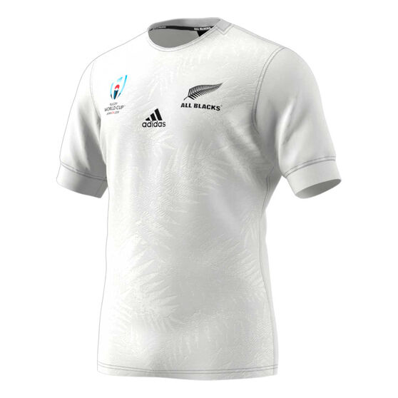 All Blacks Rugby World Cup 2019 Y-3 Mens Away Jersey, White, rebel_hi-res