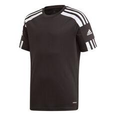 adidas Boys Squadra 21 Jersey Black 6, Black, rebel_hi-res