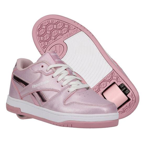 Reebok BB4500 Low Heelys Pink/Silver US 1, Pink/Silver, rebel_hi-res