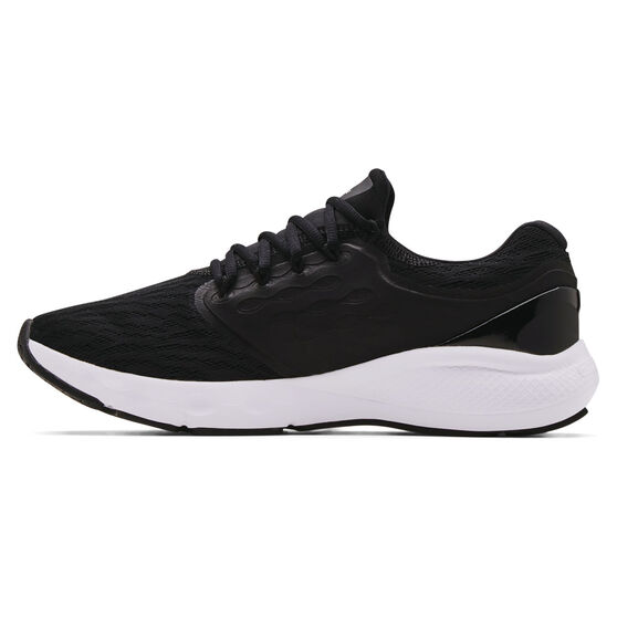 Under Armour Charged Vantage Mens Running Shoes, Black/White, rebel_hi-res