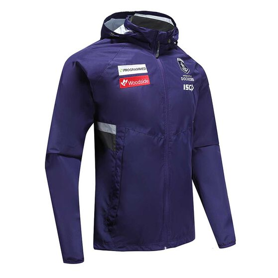 Fremantle Dockers 2020 Mens Wet Weather Jacket, Purple, rebel_hi-res