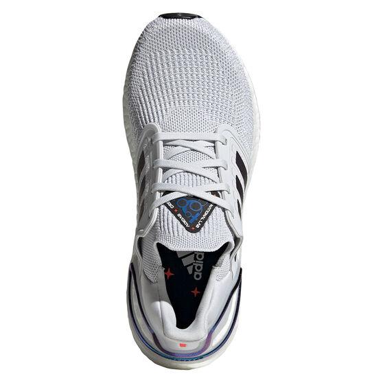 adidas Ultraboost 20 Space Race Womens Running Shoes, Grey / Purple, rebel_hi-res