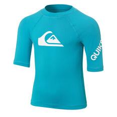 Quiksilver Boys All Time Rash Vest Blue 2, Blue, rebel_hi-res