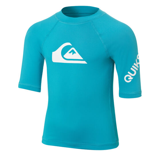 Quiksilver Boys All Time Rash Vest Grey 4, , rebel_hi-res