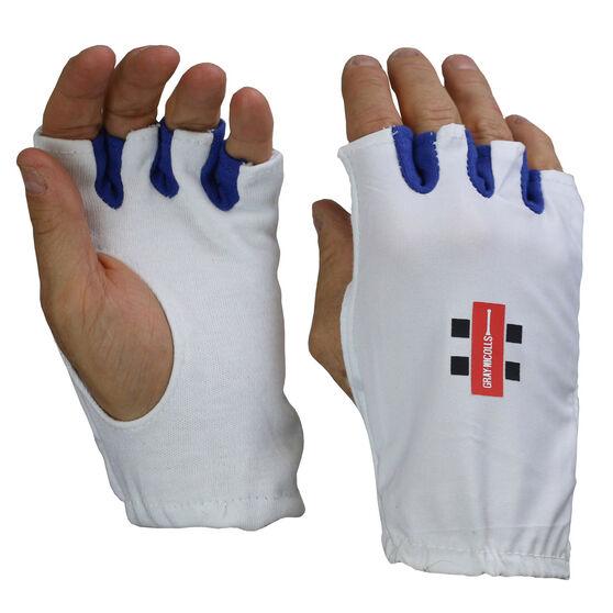 Gray Nicolls Fingerless Batting Glove Inners, White, rebel_hi-res