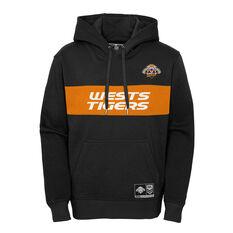 West Tigers 2021 Mens hoodie, Black, rebel_hi-res