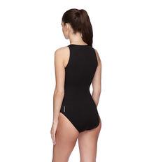 Speedo Womens Spirit Turbo Swimsuit Black/White 14 14, Black/White, rebel_hi-res