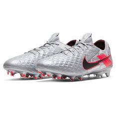 Nike Tiempo Legend VIII Elite Football Boots, Silver/Red, rebel_hi-res
