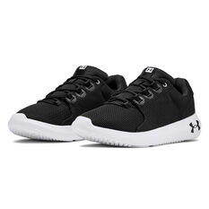 Under Armour Ripple 2.0 Womens Casual Shoes, Black / White, rebel_hi-res