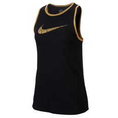 Nike Womens Dri-FIT Glam Dunk Training Tank Black XS, Black, rebel_hi-res